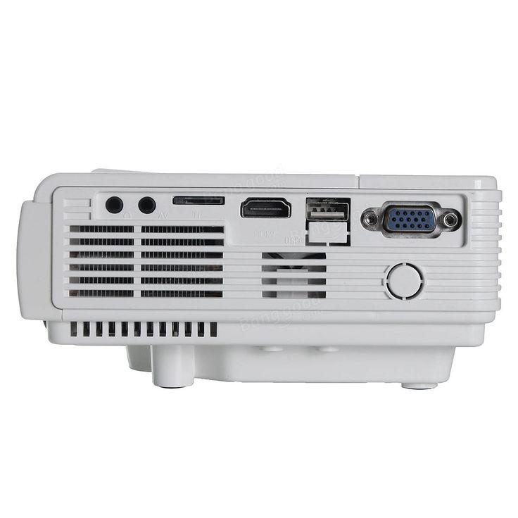 3D HD 1080P 3000Lumen Home Theater Multimedia PC VGA USB LED Projector Sale - Banggood.com