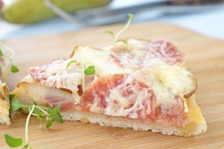 Salamipizza mit Birnen - Rezept