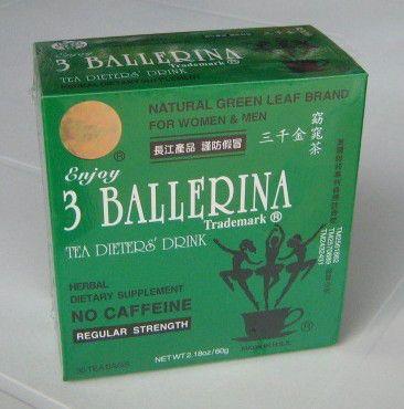 TE 3 Ballerina  El té de las 3 ballerina es una infusion que permite adelgazar atravez de la depuracion del cuerpo. Este té esta conformado por una planta medicinal denominada sen, Apartir de sus propiedades desintoxicantes, el té de las 3 ballerina sirve para complementar una dieta para perder peso.