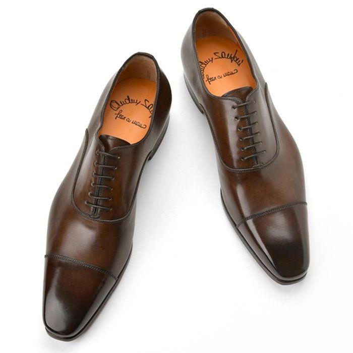 サントーニSANTONI15004ストレートチップダークブラウン【ドレスシューズ革靴ビジネスメンズ】