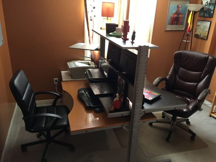 Best 25+ Double Desk Office Ideas On Pinterest | Double Desk, Desks And  Study Room Decor