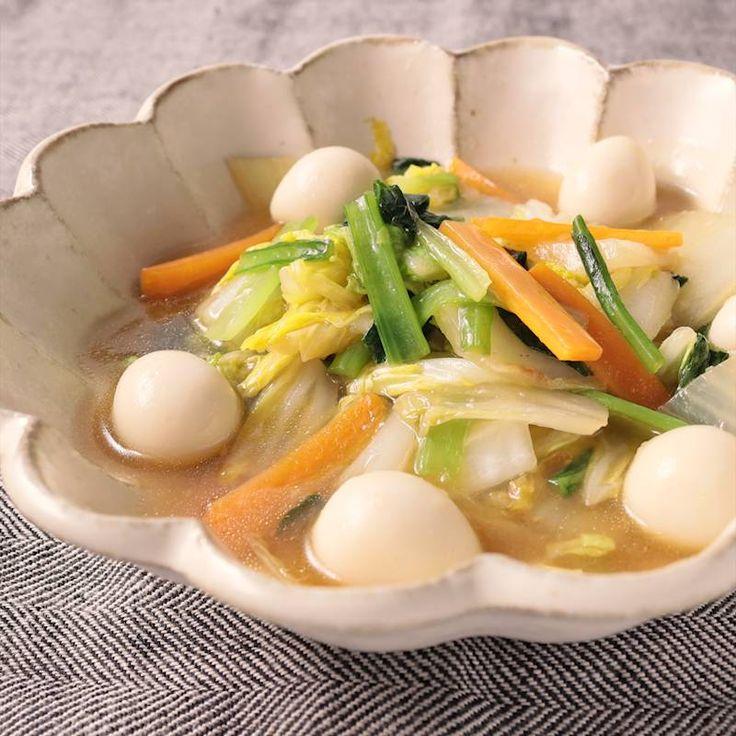 白菜と小松菜の中華風うま煮