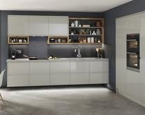 Clerkenwell Gloss Grey Kitchen Range | Kitchen families | Howdens Joinery