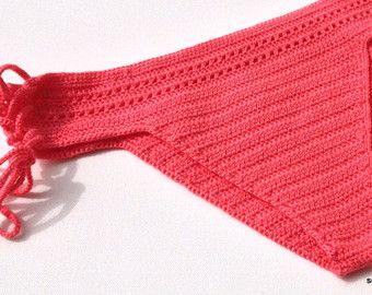 Lilac Crochet Bikini Bottom Women Swimwear by senoAccessory