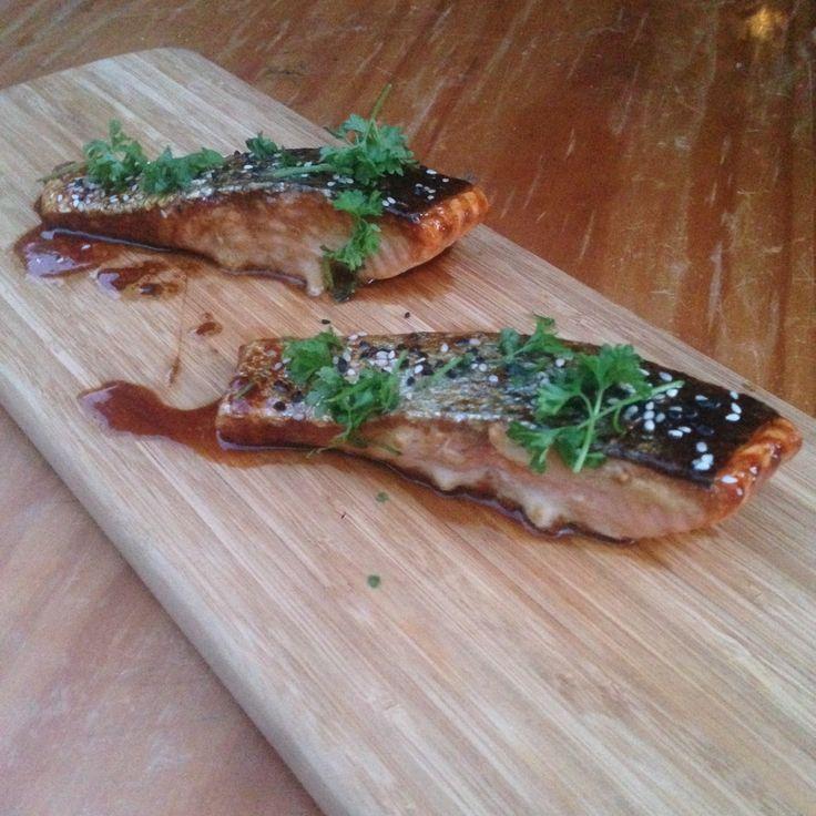 Sticky Teriyaki Salmon By Grub Garden, YouTube