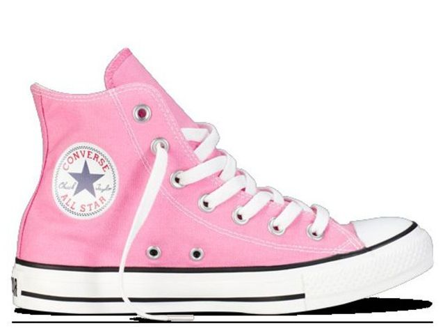 pink high tops converse