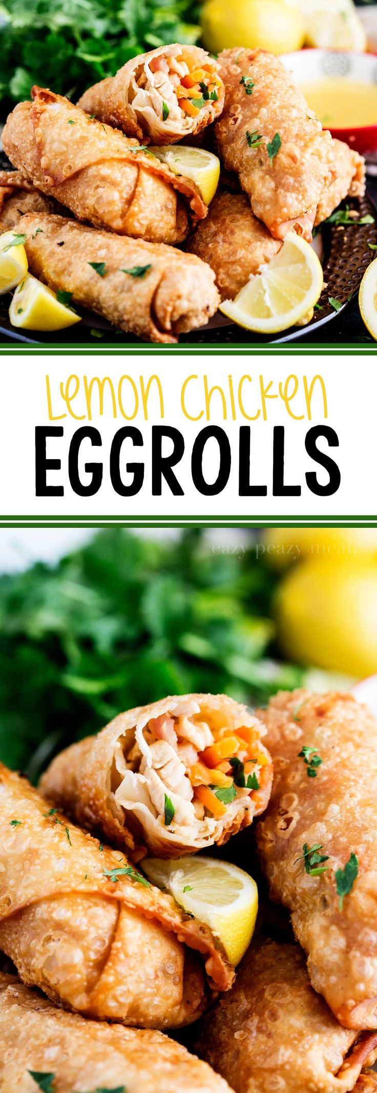 Lemon Chicken Egg Rolls are all the flavor of a classic lemon chicken with a fun, portable twist. Seriously yummy.