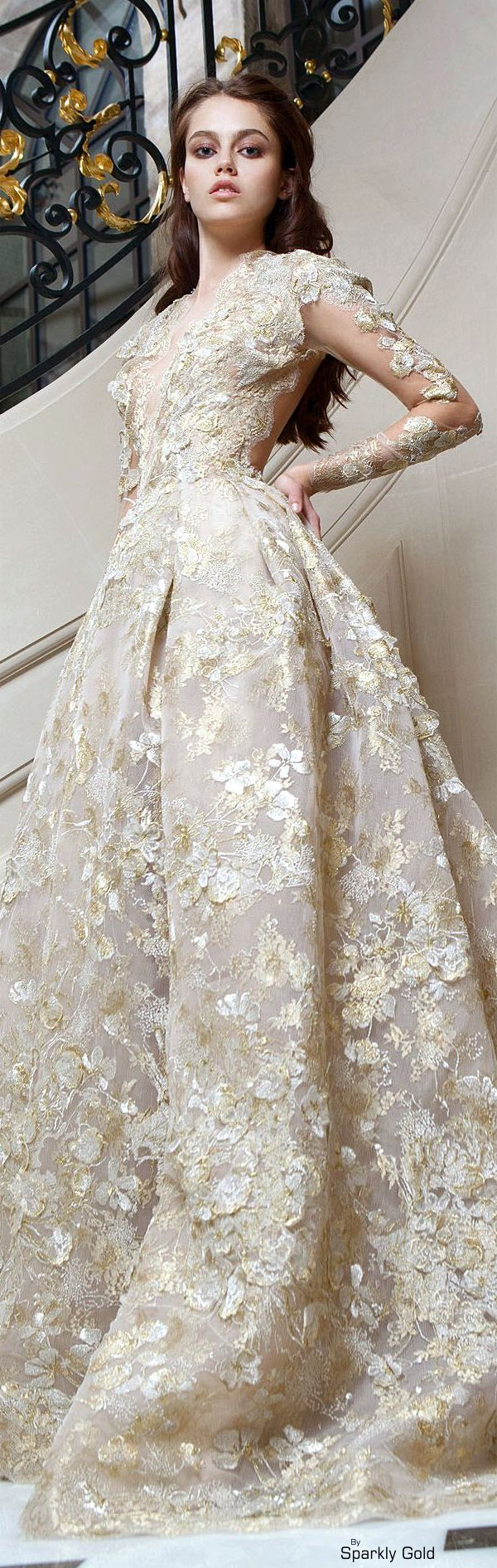 Featured is a long sleeve ball gown Wedding Dress fit for a queen. The detail on this incredible haute couture wedding dress is incredible. We can make bridal gowns like this for you at an affordable price. Get info at www.dariuscordell.com