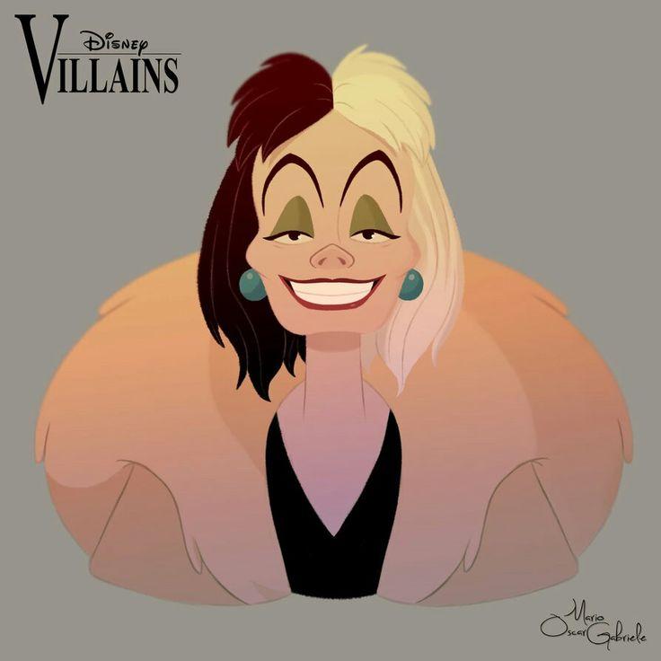 Disney Villains:Cruella De Ville by Mario Oscar Gabriele on Devinart