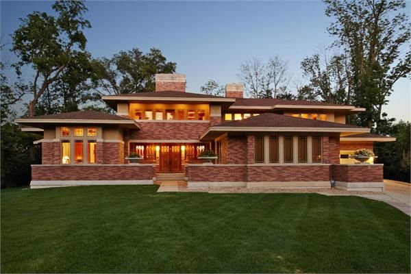13 best ideas about frank lloyd wright style lookbook on Prairie style house plans luxury