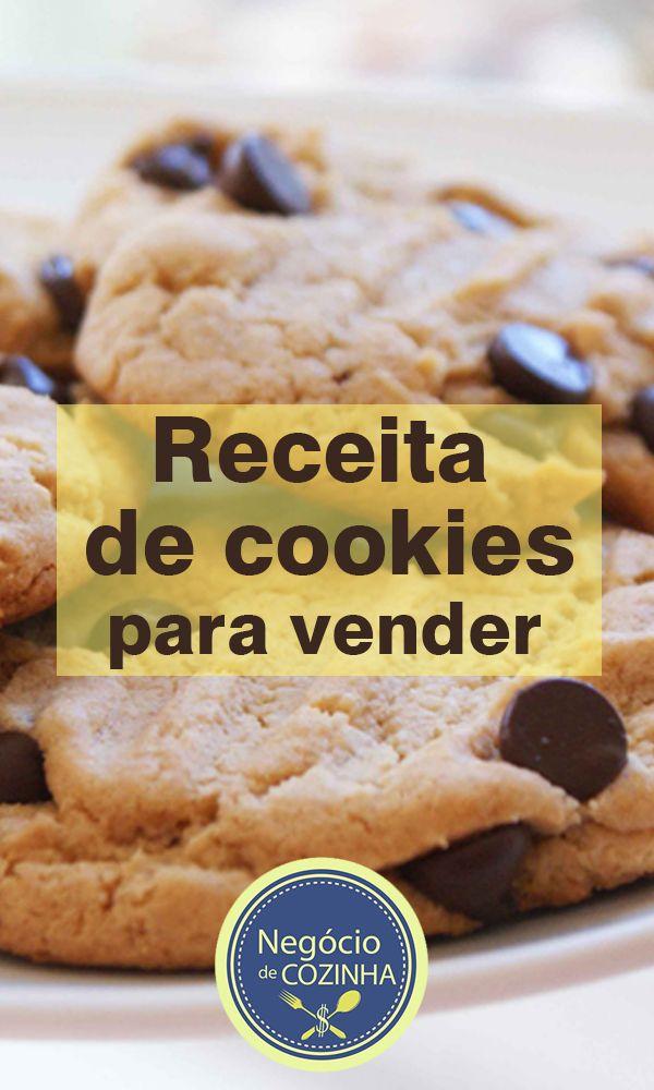 Uma receita de cookies simples e deliciosa pra você ganhar dinheiro!  Esse biscoito tradicional americano está fazendo um sucesso enorme por aqui e tem gente aproveitando isso para ganhar dinheiro...  Por que você não faz a mesma coisa?  #Cookies #CookiesLucrativos #GanharDinheiro #GanharDinheiroEmCasa #FaçaEVenda #facaevenda #NegócioDeCozinha