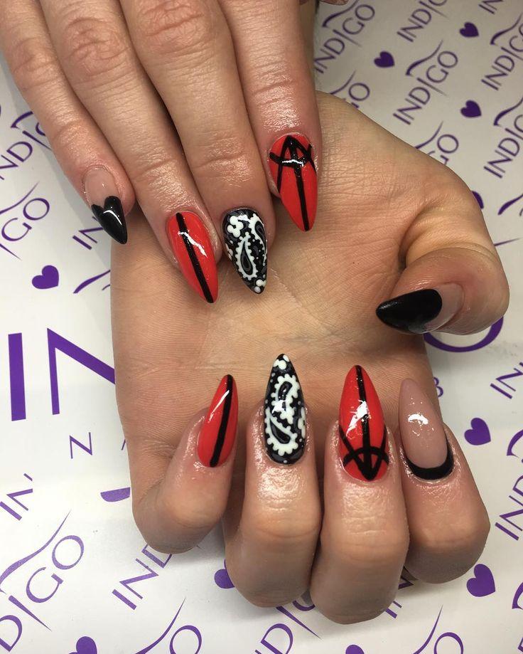 awesome Необычный красно-черный маникюр (50 фото) — Свежие идеи дизайна Читай больше http://avrorra.com/krasno-chernyj-manikyur-foto-idei/
