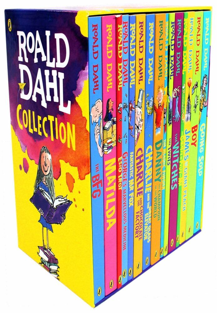 Roald Dahl Box Set Collection x 15 New Paperback Books Set