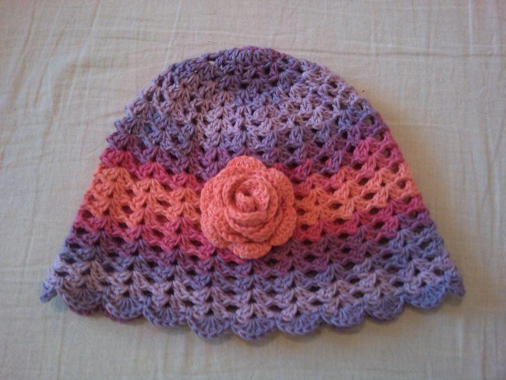 Nika sapka / Nika hat Sapka / hat: http://www.ravelry.com/patterns/library/crochet-hat-nika Rózsa / rose: https://www.youtube.com/watch?v=dHB6SdGUmf8