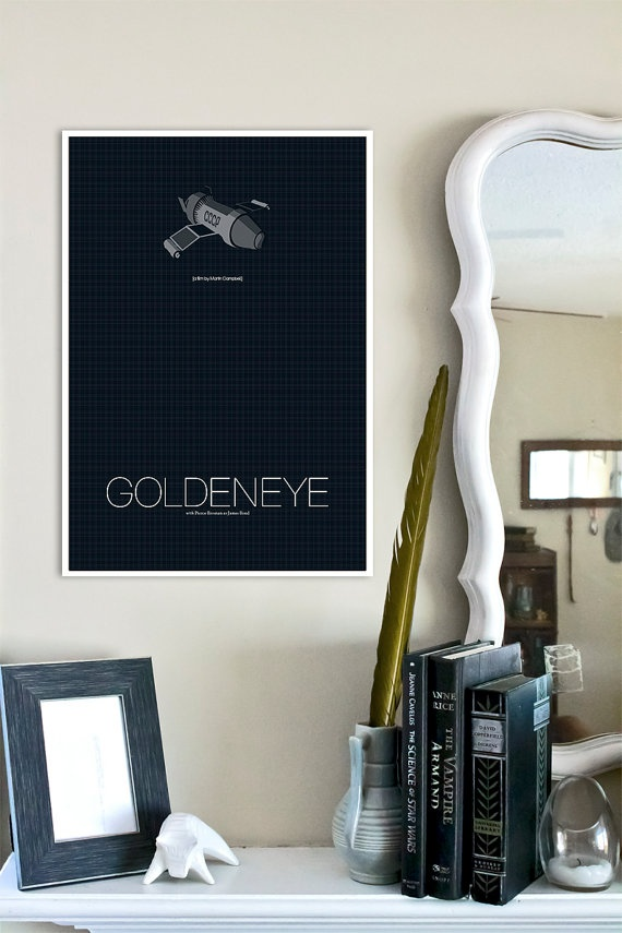 James Bond inspired Spy Film Print  13x19 Goldeneye by TheGeekerie, $22.00