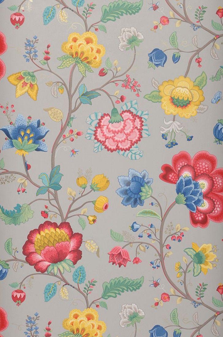Belisama | Papier peint floral | Motifs du papier peint | Papier peint des années 70