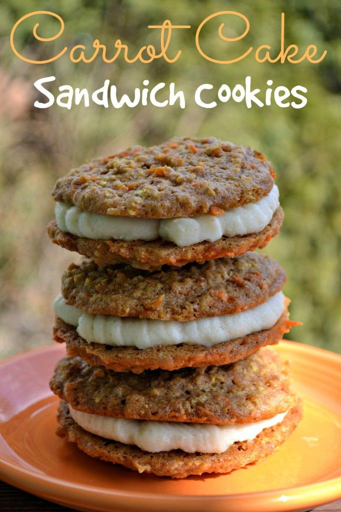 Carrot Cake Sandwich Cookies Recipe. These taste exactly like Trader Joe's Inside-Out Carrot Cake Cookies.