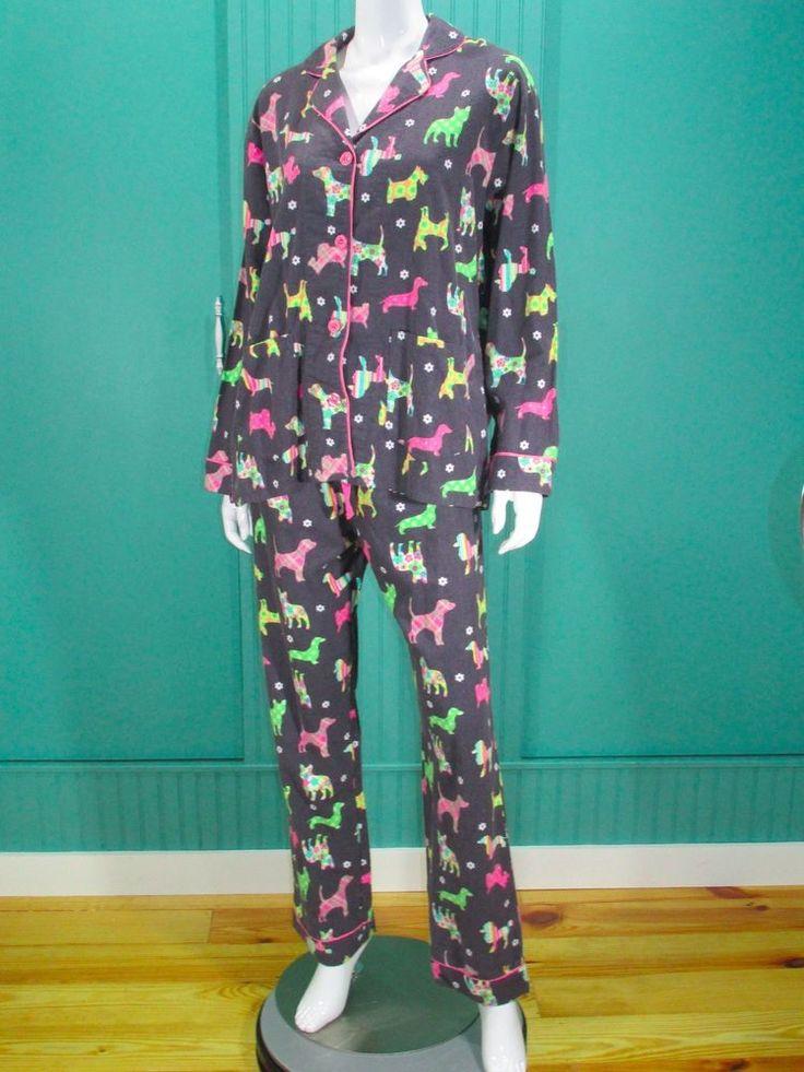 PJ Salvage NEW Women's Pajama Set Pajamas Dogs #PJSalvage #PajamaSets