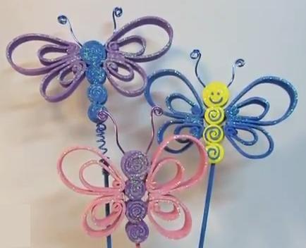 Cómo hacer mariposas de Goma Eva | JOYAS-MIX 2 | Pinterest