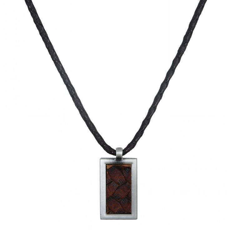 Man leather black glow necklace - Vanderly