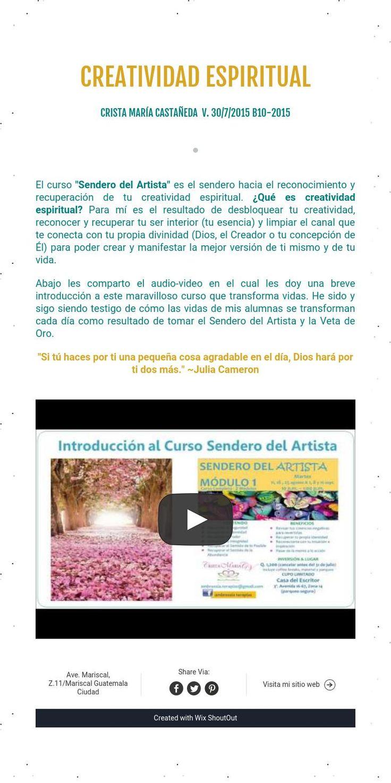 creatividad espiritualCrista María castañeda V. 30/7/2015 B10-2015