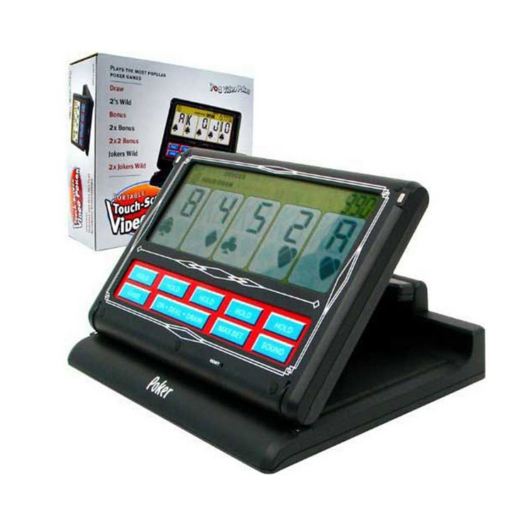 Portable Touch-Screen 7-in-1 Video Poker Game by John N. Hansen Co., Multicolor