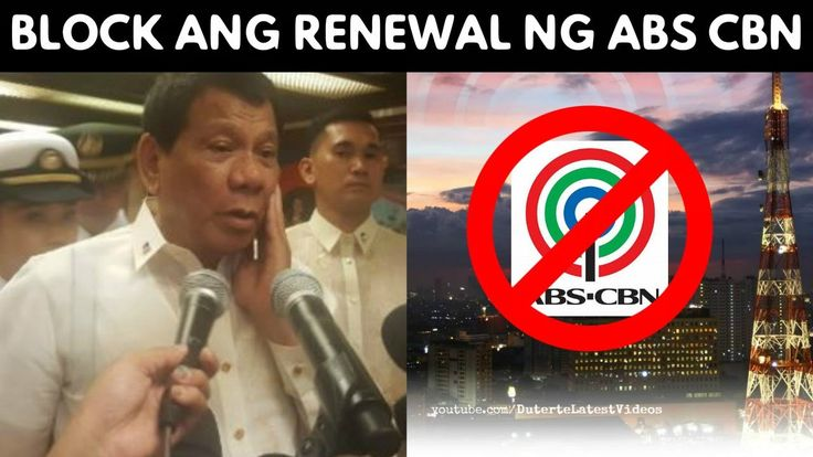 """WATCH: President DUTERTE to block renewal of ABS-CBN franchise 