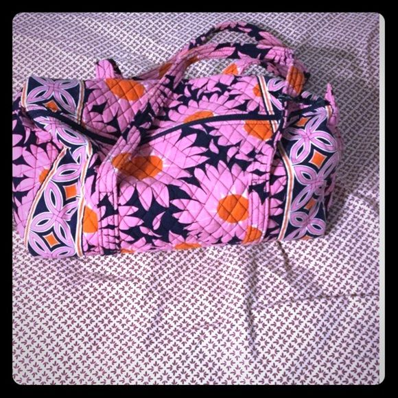 Vera Bradley large duffel bag Gently used. Clean. No holes or stains. Still looks brand new! Great for overnight trips. Vera Bradley Bags Travel Bags