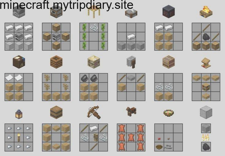 Image Of Crafting Recipes For The New Items From 1 14 Minecraft Minecraft Crafting Recipes Minecraft Creations Minecraft Crafts
