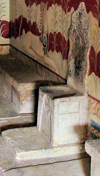 King Midas' Stone Throne ~ Knossos Palace, Crete Island, Greece