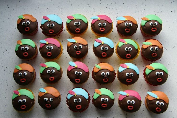 Cupcakes zwarte piet