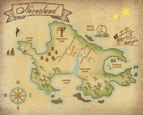 the 25 best neverland map ideas on pinterest neverland