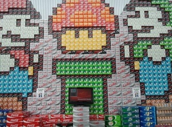 Awesome Coke display as Super Mario Bros