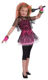 80's Rock Star Girls Costume - Kids Costume