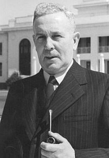 "Joseph Benedict ""Ben"" Chifley (/ˈtʃɪfli/; 1885–1951), Australian politician, was the 16th Prime Minister of Australia. He took over the Australian Labor Party leadership and Prime Ministership after the death of John Curtin in 1945. Chifley Labor went on to retain a majority in both houses of Australian Parliament at the 1946 election, before his government was defeated in the lower house at the 1949 election."