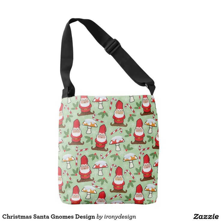 Christmas Santa Gnomes Design Crossbody Bag
