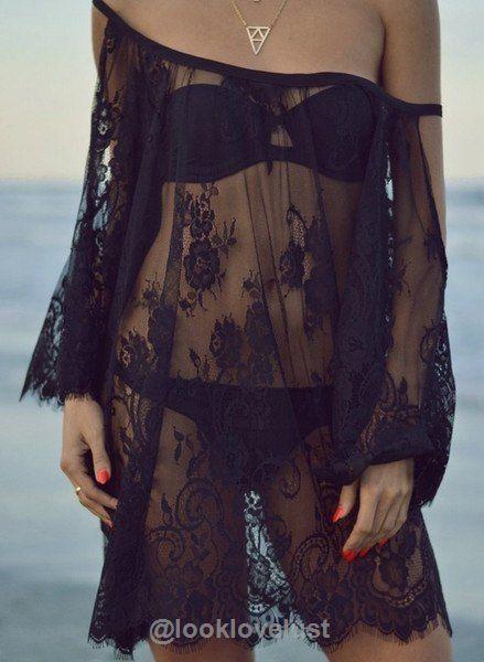 Summer Lace Crochet Beach Cover Up - - Swimwear, Look Love Lust