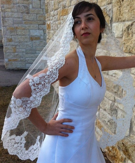 Hey, I found this really awesome Etsy listing at https://www.etsy.com/listing/66132581/mantilla-veil-with-beaded-lace-and