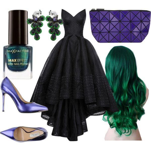 Avengers Formal - Hulk by briana-mason94 on Polyvore featuring Zac Posen, Gianni Marra, Bao Bao by Issey Miyake, Beverly Hills Charm and Max Factor #polyvore #avengers #hulk #marvel #formal