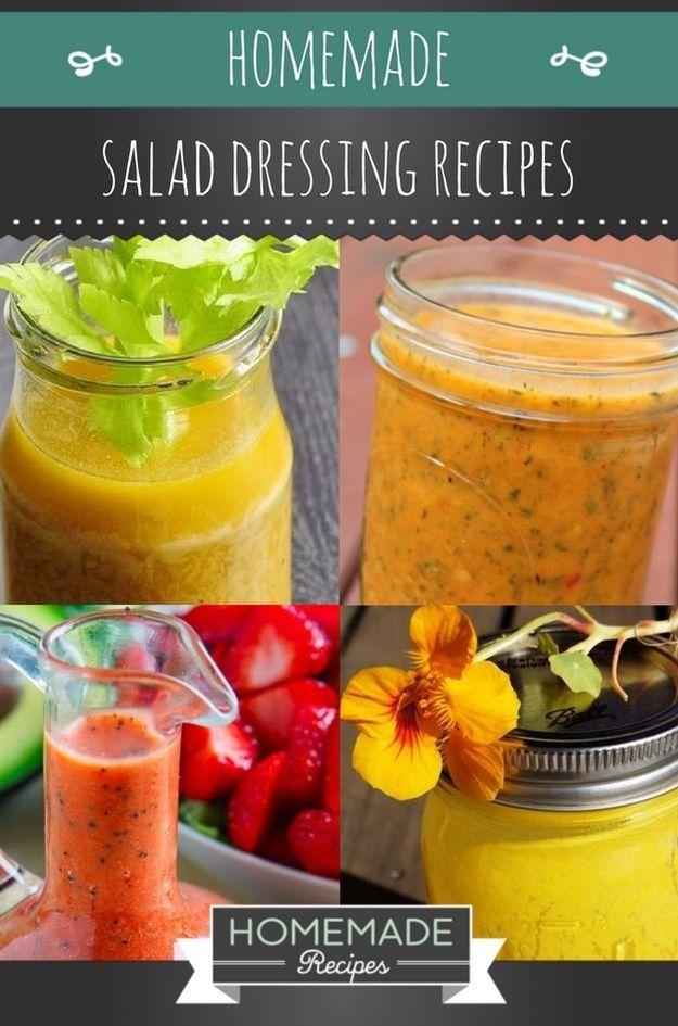 18 Homemade Salad Dressing Recipes | https://homemaderecipes.com/18-homemade-salad-dressing-recipes/
