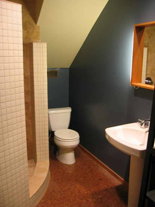 small under stairs toilet design