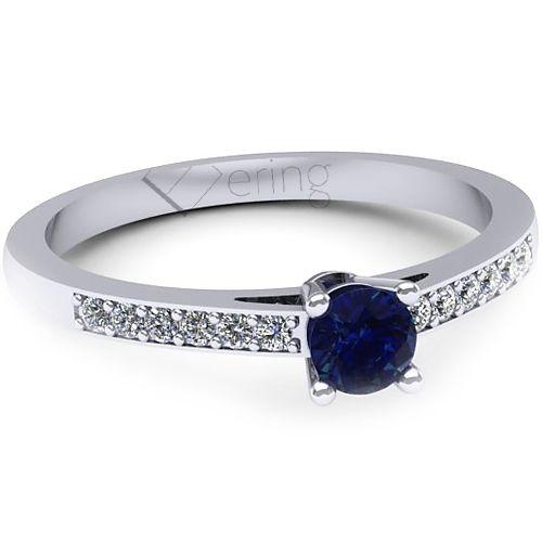 Inel logodna L136ASF cu safir si diamante