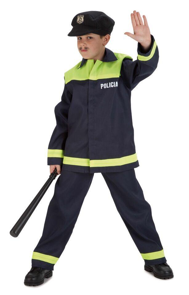 DisfracesMimo, difraz de policia local para niño varias tallas. Con este disfraz de Policía infantil te convertirás en un auténtico agente de la justicia.Este disfraz es ideal para tus fiestas temáticas de disfraces de policias para niños infantiles.