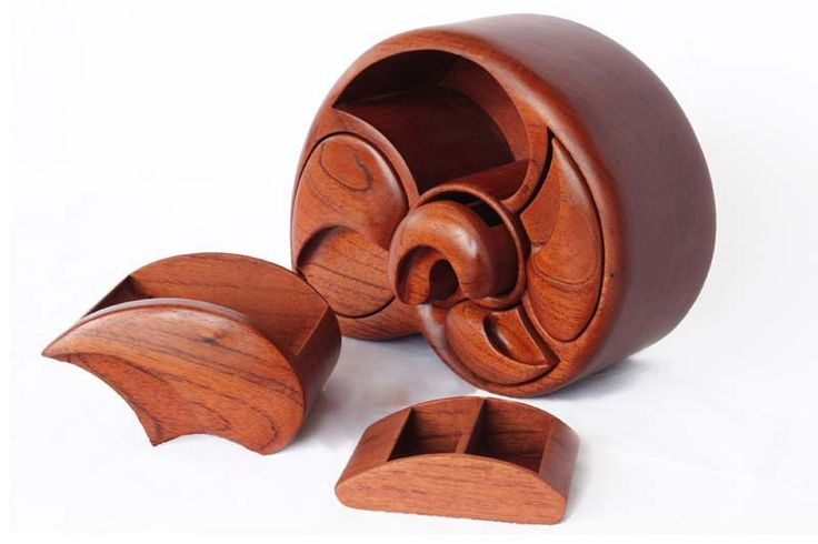 Alan Williams 5 Drawer Conch Jewellery Box   Australian Woodwork - FREE Gift Wrapping - FREE Handwritten Gift Card - Fast Same Day Shipping - FREE Shipping for orders over $100 - Our usual Money Back Quality Guarantee!