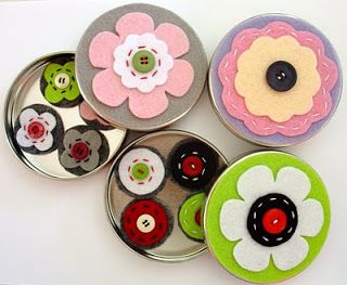 Tins filled with magnets