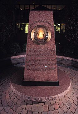 The Eternal Flame Monument, Mississippi State University, Starkville, MS. Located near Allen Hall.