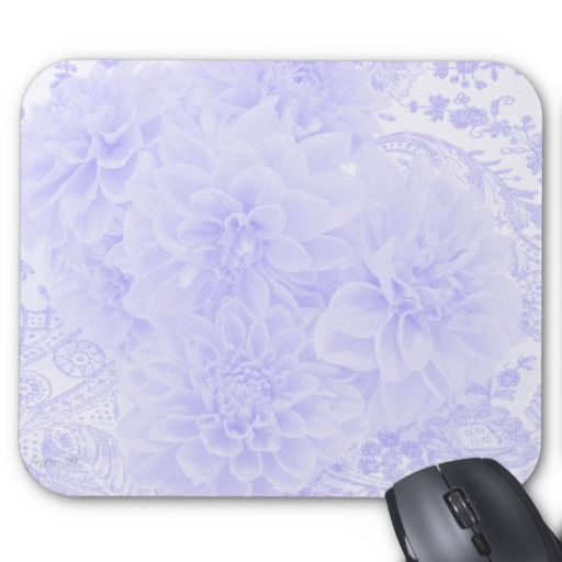 Dahlias In Blue Mouse Pad