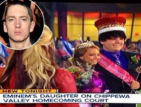 Eminem's daughter Hailie Scott was crowned Homecoming Queen at her high school in Michigan on Oct. 4.