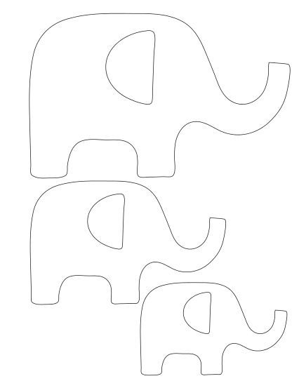 Moldes para hacer elefantes con fieltro04