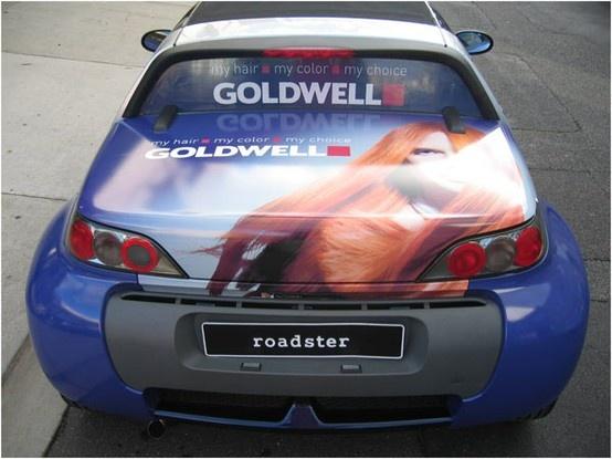Goldwell Mazda AutoSkin, Vehicle Wrap, hairdressing, advertising